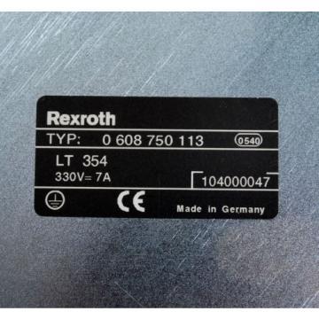 Rexroth France Australia LT354 Type: 0 608 750 113