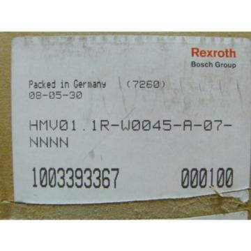Rexroth Australia Singapore HMV01.1R-W0045-A-07-NNNN Power Supply   > ungebraucht! <
