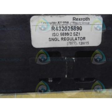 REXROTH Korea Canada R432025890 SNGL REGULATOR *USED*