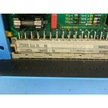 Rexroth Canada Italy VT5005 S16 R1  Prop.Verstärker