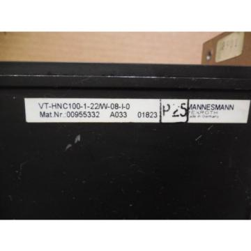 Rexroth Japan Korea Controller Axis VT-HNC100-1-22/W-08-I-0 VTHNC100122W08I0 24VDC Used