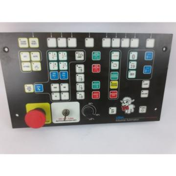 INDRAMAT India Mexico / REXROTH BTM1.01/00 CONTROL PANEL / OPERATOR INTERFACE w/ E-STOP USED