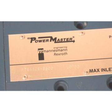 NEW Singapore Greece MANNESMANN REXROTH PT44106-8500 POWERMASTER VALVE