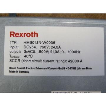Rexroth Greece France HMS01.1N-W0036-A-07-NNNN Einzelachs - Wechselrichter   > ungebraucht! <