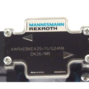 NEW Egypt USA MANNESMANN REXROTH 4WRAEB6EA25-11/G24N9 DK26/MR VALVE W/ 021462A 352 COIL