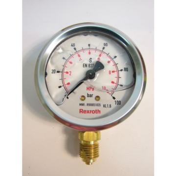 New India Canada Bosch Rexroth R900051035 ABZMM63 Manometer Pressure Gauge 100 Bar/MPA