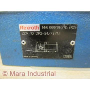 Rexroth Egypt Australia Bosch R900410875 Valve ZDR 10 DP2-54/75YM - New No Box