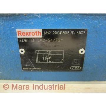 Rexroth Canada Korea Bosch R900438008 Valve ZDR 10 DA2-54/75Y - New No Box