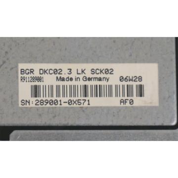 REXROTH Australia Greece INDRAMAT DKC02.3-040-7-FW SERVO DRIVE W/ BGR-DKC02.3-LK-SCK02