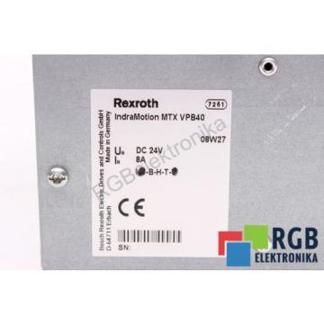 MTXVPB40 Italy Korea 24VDC 8A INDRAMOTION INDRACONTROL V REXROTH 12M WARRANTY ID4210