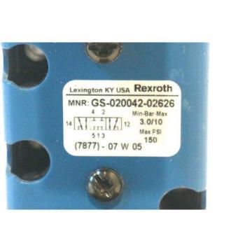 REXROTH Korea Mexico GS-020042-02626 HYDRAULIC VALVE GS02004202626