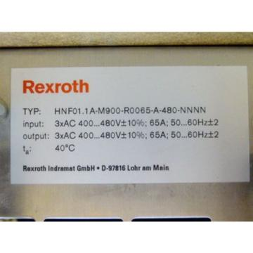 Rexroth Germany Canada HNF01.1A-M900-R0065-A-480-NNNN Indra Drive