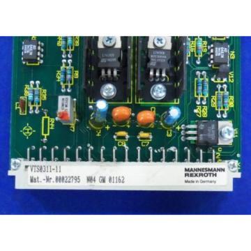 MANNESMANN USA Canada REXROTH CONTROL CARD SUI VTS0311-11