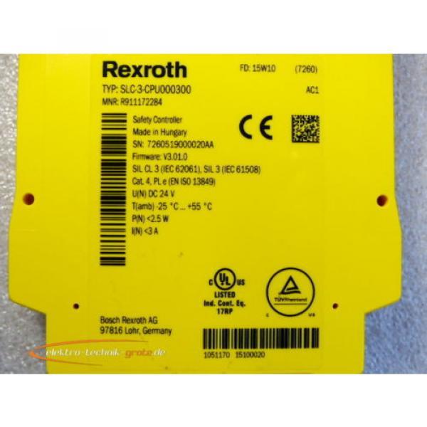 Bosch Russia Greece Rexroth SLC-3-CPU00300 / R911172284 Safety Controller > ungebraucht! < #2 image