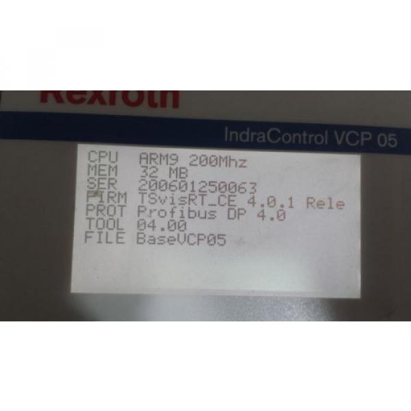 Rexroth Germany Greece IndraControl VCP 05 with PROFIBUS DP slave VCP05.2DSN-003-PB-NN-PW #9 image