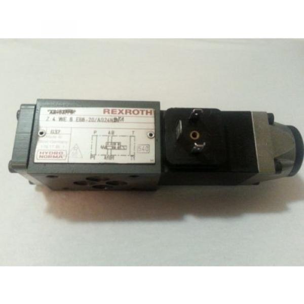 REXROTH Canada USA HYDRAULIC VALVE Z4WE-6-E68-20/AG24N9K4 24VDC Z4WE-6-E68-20 AG24N9K4 #1 image