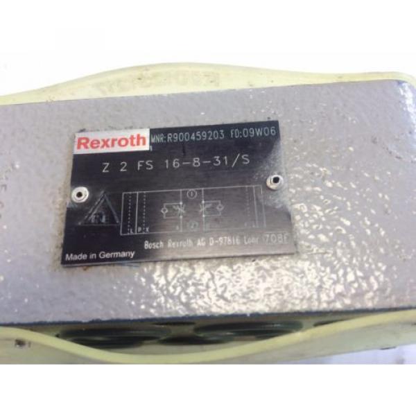 NEW Canada Australia REXROTH Z2FS 16-8-31/S, 09W06,  R900459203 HYDRAULIC FLOW CONTROL VALVE AO #2 image
