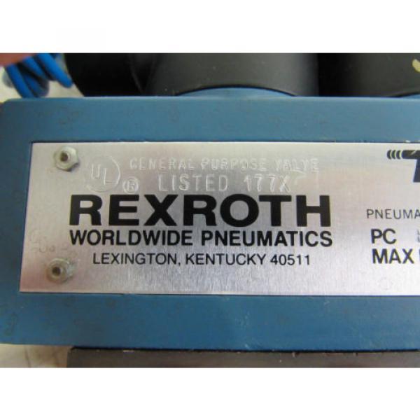 REXROTH Russia Korea PJ35771 PNEUMATIC DIRECTIONAL CONTROL VALVE 150PSI 120V 22VA 12W **NNB** #3 image