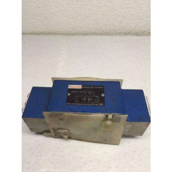 Rexroth India Japan Z2FS-10-5-33/V D05 Hydraulic Dual Flow Valve (B49) #1 image