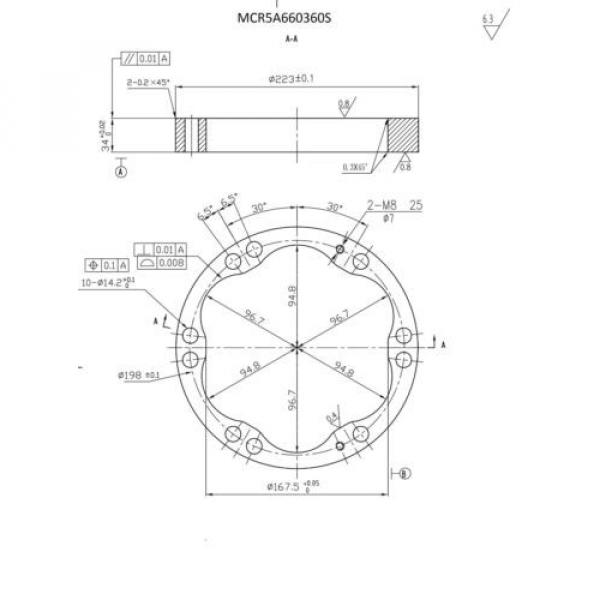 REXROTH Japan Russia NEW REPLACEMENT CAM/STATOR RING MCR05A660-360  WHEEL/DRIVE MOTOR #2 image