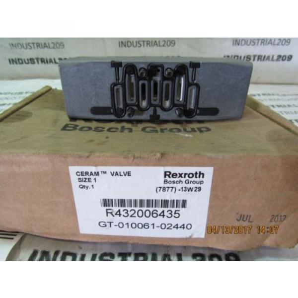 REXROTH France Canada CERAM VALVE RT32006435 GT-010061-02440 NEW #5 image