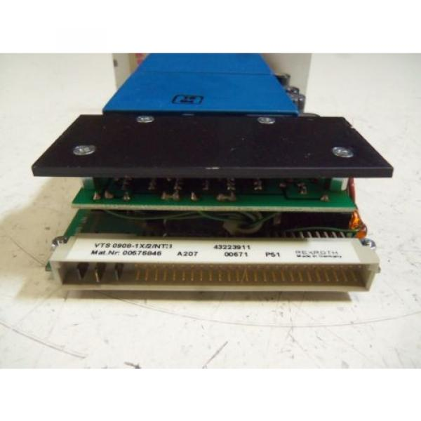 REXROTH Canada Canada VTS 0908-1X/2/NT3 POWER SUPPLY MODULE *USED* #3 image