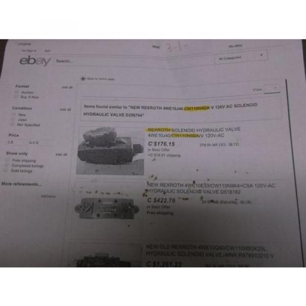 Rexroth France Egypt 4WE10C40/CW11ON9DA Hydraulic Valve #5 image