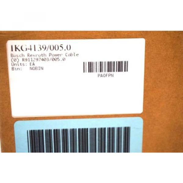 NEW Korea china BOSCH REXROTH R911297403 / 005.0 POWER CABLE IKG4139 / 005.0 IKG41390050 #3 image