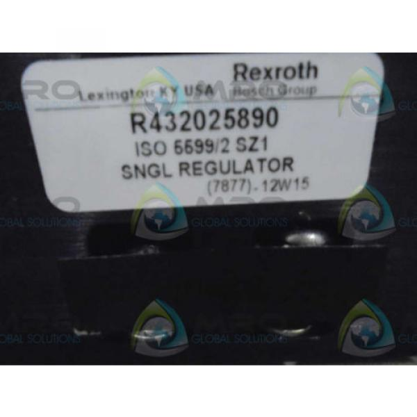 REXROTH Russia Canada R432025890 SNGL REGULATOR  *NEW AS IS* #1 image