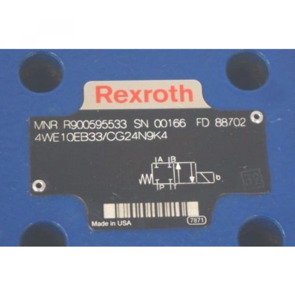 NEW Greece Egypt REXROTH 4WE10EB33/CG24N9K4 VALVE R900595533 #2 image