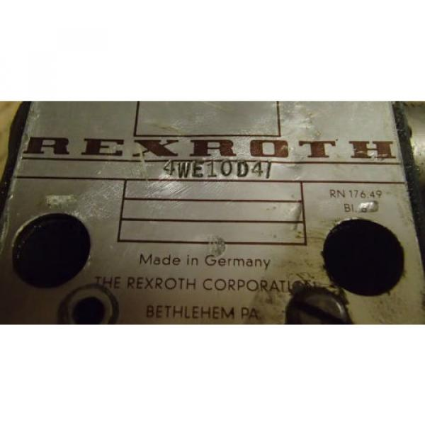 Rexroth Mexico Mexico 4WE10D4 Directional Control Valve _ 4WE1OD4 #5 image