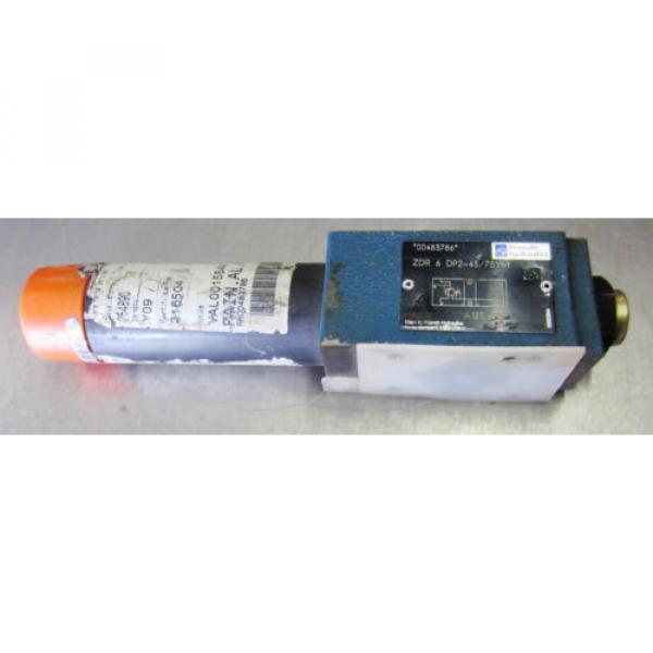 Rexroth Mexico Australia ZDR-6-DP2-43/75YM Hydraulic Valve ZDR6DP2-43/75YM #1 image