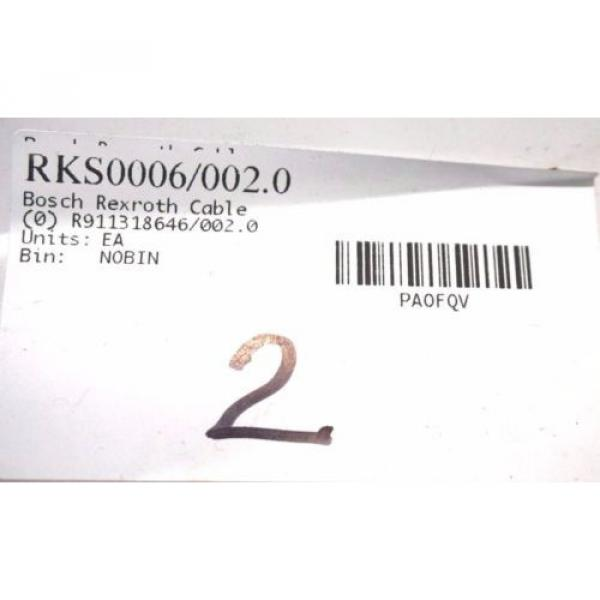 NEW Singapore Singapore BOSCH REXROTH RKS0006 / 002.0 CABLE R911318646/002.0 RKS00060020 #2 image