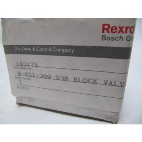 (NEW) Germany china Bosch Rexroth Block Valve 183175 0-821-300-930 0821300930 #4 image