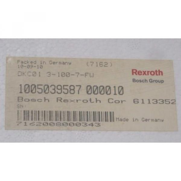 NEW Korea Russia REXROTH DKC01.3-100-7-FW SERVO DRIVE R911279429 , DKC0131007FW #3 image