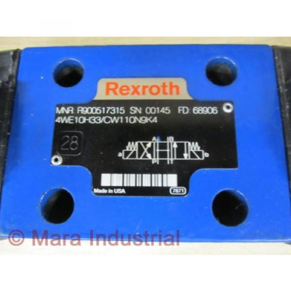 Rexroth Mexico Russia Bosch R900517315 Valve 4WE10H33/CW110N9K4 - New No Box #2 image