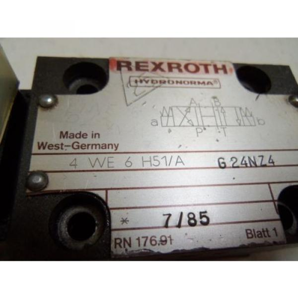 REXROTH India Canada 4WE6H51/AG24NZ4 DIRECTION CONTROL VALVE *USED* #4 image