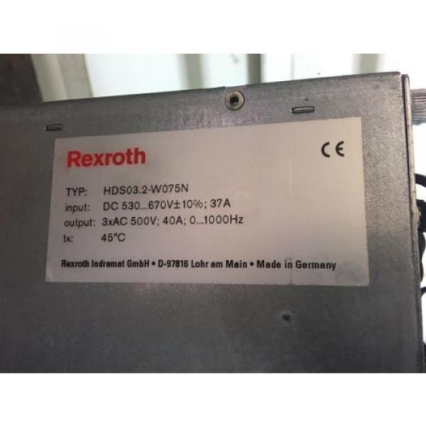 Indramat Egypt USA Rexroth Servo Drive, HDS03.2-W075N, w /DSS02.1, CLC-D02.3, DBS03.1 Used #5 image