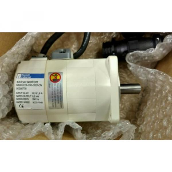 REXROTH India Mexico INDRAMAT SERVO MOTOR MMD022A-030-EGO-CN *NEW IN BOX* #4 image