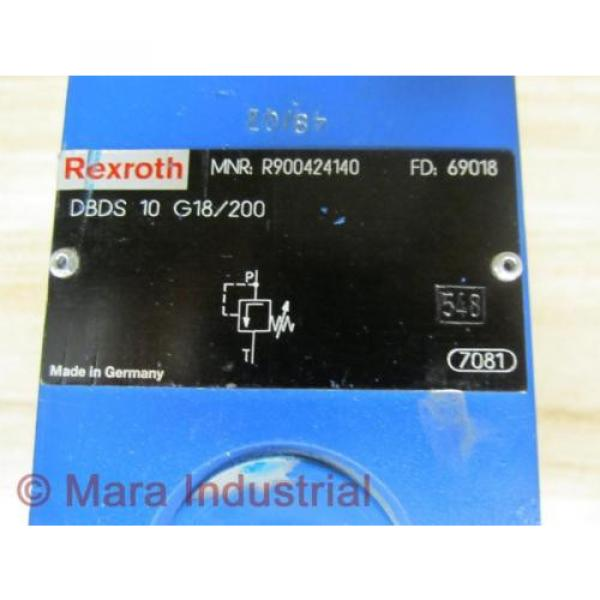 Rexroth USA china Bosch R900424140 Valve DBDS 10 G18/200 - New No Box #2 image