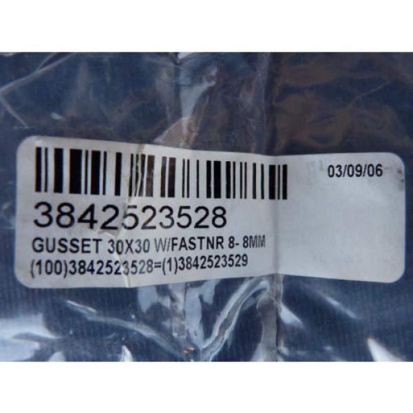 Set Canada Canada of 4 NEW Bosch Rexroth Gusset 3842523528 30x30 w/ Fastener 8-8mm Orig. Pkg. #9 image
