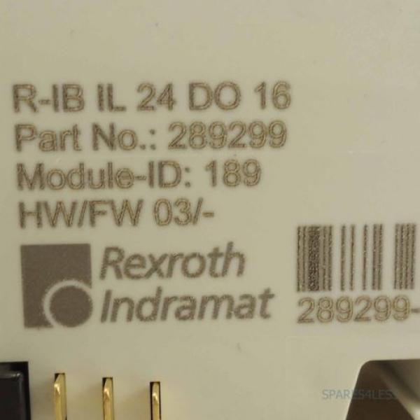 Rexroth USA Dutch Inline Digital-Ausgabeklemme R-IB IL 24 DO 16 OVP #2 image