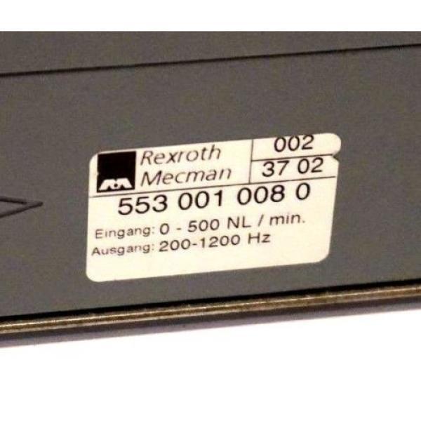 REXROTH Egypt Germany 553 001 008 0 AIR VOLUME SENSOR 0-500 NL / MIN 200-1200 HZ, 5530010080 #2 image