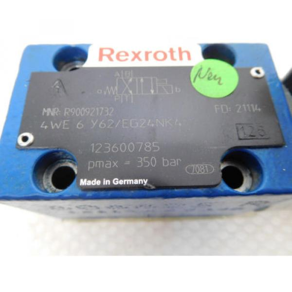 Rexroth France Egypt 4WE 6 Y62/EG24NK4, R900921732, Directional control valve 4/2 unused #2 image