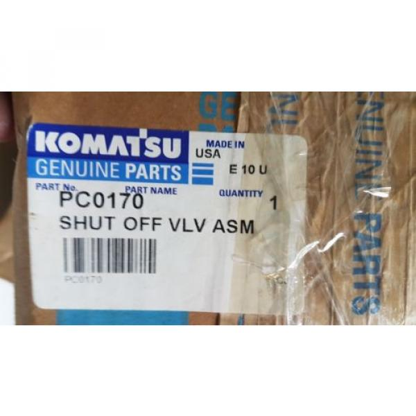 New Komatsu Shut Off Valve Assembly PC0170 Made in USA #1 image