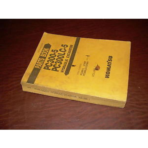 KOMATSU 300 PC300 -5  EXCAVATOR PARTS CATALOG BOOK MANUAL #1 image