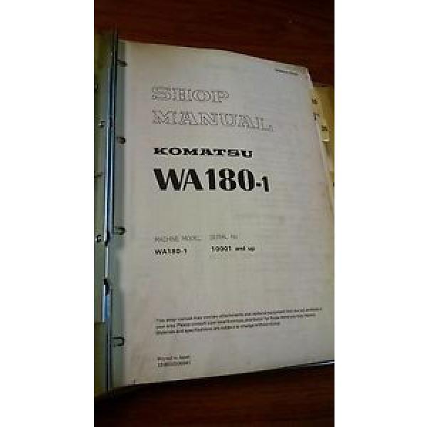 Komatsu WA180 shop manual #1 image