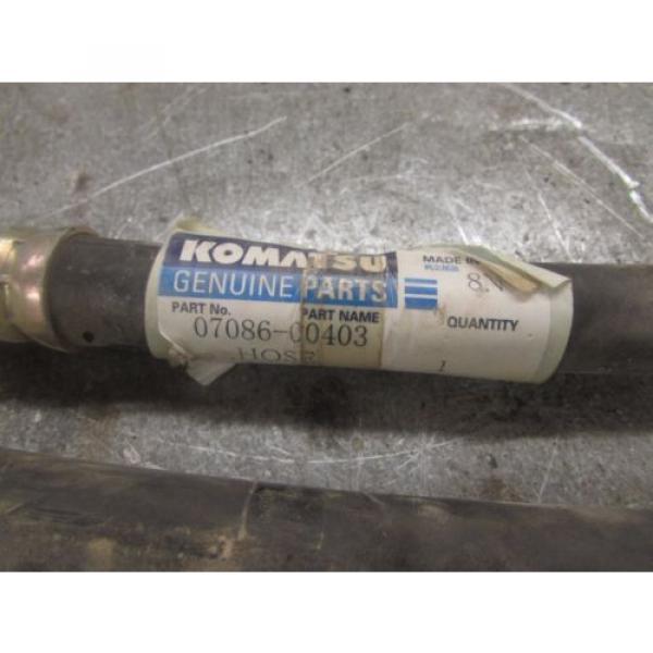 LOT OF 2 - NEW GENUINE KOMATSU hydraulic HOSES 07086-00403 #2 image