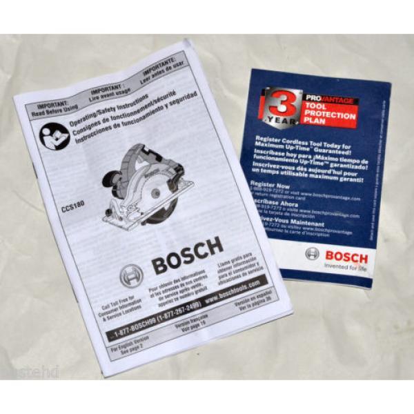 Bosch 18v Lithium Li Ion Cordless Circular Saw CCS180 CCS180B CCS180BN Brand New #6 image
