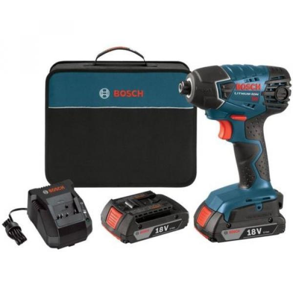 Cordless 18 Volt Lithium Ion 1/4 In Impact Driver Kit (2) 2.0 Ah Batt Power Tool #2 image